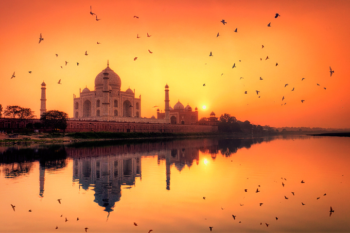 Agra Sunset Boat Ride In Yamuna River